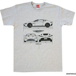 Koszulka ASTON MARTIN DB10 GRAY tshirt. Szare t-shirty męskie Pakamera, m. Za 77,00 zł.