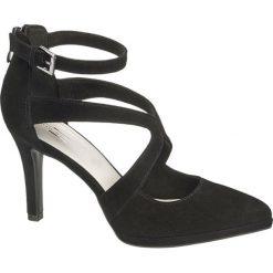 Szpilki damskie 5th Avenue czarne. Czarne szpilki marki 5th Avenue, w paski, z materiału. Za 179,90 zł.