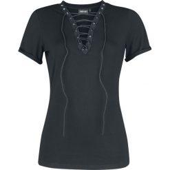 Bluzki asymetryczne: Jawbreaker Lace Shirt Koszulka damska czarny