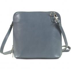 """Skórzana torebka """"Gwyneth"""" w kolorze szarym - 20 x 25 x 5 cm. Szare torebki klasyczne damskie Spécial maroquinerie, w paski, z materiału. W wyprzedaży za 113,95 zł."""