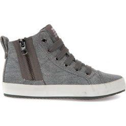 """Sneakersy """"Alonisso"""" w kolorze szarym. Niebieskie trampki chłopięce marki geox kids, z gumy. W wyprzedaży za 142,95 zł."""