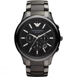 Zegarek EMPORIO ARMANI - Renato AR1451  Black/Silver/Steel. Szare zegarki męskie marki Emporio Armani, l, z nadrukiem, z bawełny, z okrągłym kołnierzem. Za 2039,00 zł.