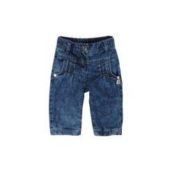 STEIFF Girls Mini Spodnie dżinsowe blue denim. Niebieskie spodnie chłopięce marki Kanz, z bawełny. Za 83,50 zł.