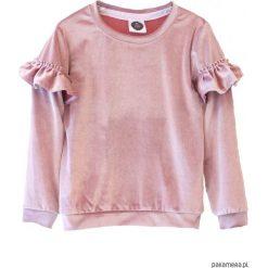 Bluzy dziewczęce rozpinane: Bluza VELOUR pink