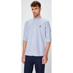 U.S. Polo - Koszula. Szare koszule męskie na spinki marki U.S. Polo, l, w kratkę, z bawełny, button down, z długim rękawem. W wyprzedaży za 279,90 zł.