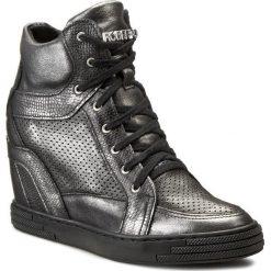Sneakersy damskie: Sneakersy ROBERTO – 474/D Stal