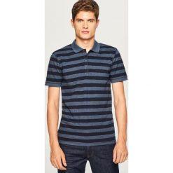 Koszulka polo w paski - Granatowy. Niebieskie koszulki polo Reserved, l, w paski. W wyprzedaży za 29,99 zł.