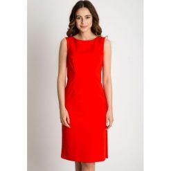 Sukienki: Czerwona sukienka bez rękawów  BIALCON