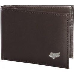 FOX Portfel Męski Bifold Leather, Brązowy. Szare portfele męskie marki FOX, z bawełny. Za 201,00 zł.
