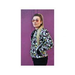 Bluzy rozpinane damskie: BLUZA BUTTON BOMBER BLOUSE FLOWER UNISEX KWIATKI KWIATY