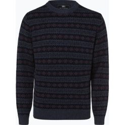 Nils Sundström - Sweter męski, niebieski. Niebieskie swetry klasyczne męskie marki bonprix, m, melanż. Za 299,95 zł.