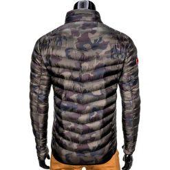 KURTKA MĘSKA PRZEJŚCIOWA PIKOWANA C299 - MORO. Czarne kurtki męskie pikowane Ombre Clothing, m, moro, z nylonu. Za 99,00 zł.