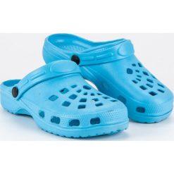 Chodaki damskie: Niebieskie klapki ogrodowe MERG niebieskie