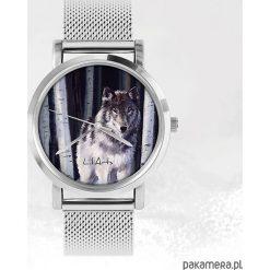Biżuteria i zegarki damskie: Zegarek - Szary wilk - metalowy