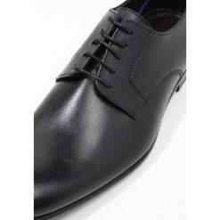 PS by Paul Smith GOULD Eleganckie buty black. Czarne buty wizytowe męskie PS by Paul Smith, z materiału, na sznurówki. Za 1089,00 zł.