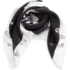 Chusta MOSCHINO - 03549 M1802 001. Czarne chusty damskie MOSCHINO, z jedwabiu. Za 819,00 zł.