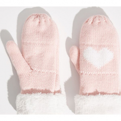 Rękawiczki z jednym palcem - Różowy. Czerwone rękawiczki damskie marki Sinsay. Za 24,99 zł.