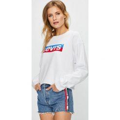 Levi's - Bluza. Brązowe bluzy rozpinane damskie Levi's®, l, z nadrukiem, z bawełny, bez kaptura. Za 219,90 zł.