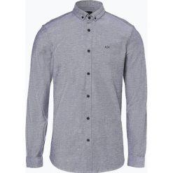 Armani Exchange - Koszula męska, niebieski. Czarne koszule męskie w paski marki Armani Exchange, l, z materiału, z kapturem. Za 249,95 zł.