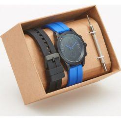 Zegarki męskie: Zegarek z wymiennymi paskami – Niebieski