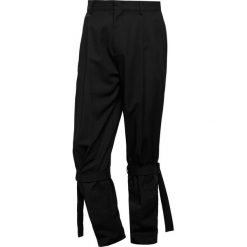 Spodnie męskie: McQ Alexander McQueen BONDAGE NICK TROUSER Spodnie materiałowe darkest black