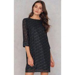 Sukienki hiszpanki: Moves Sukienka Magnolia – Black,Gold