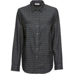 Bluzka dżinsowa z nadrukiem, długi rękaw bonprix szary z nadrukiem. Szare bluzki asymetryczne bonprix, z nadrukiem, z długim rękawem. Za 79,99 zł.