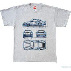 Bluzki, topy, tuniki: Koszulka T - PORSCHE 911 GREY