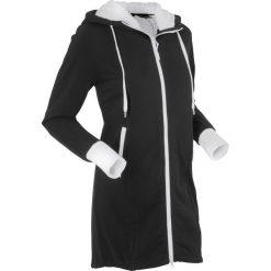 Bluzy polarowe: Bluza rozpinana na podszewce z polaru, długi rękaw bonprix czarny