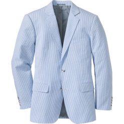 Marynarki męskie slim fit: Marynarka z kory Regular Fit bonprix jasnoniebiesko-biały w paski