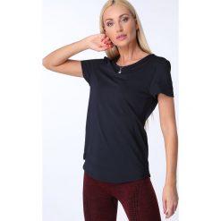 T-shirt luźny fason granatowy MR16618. Niebieskie t-shirty damskie Fasardi, l. Za 39,00 zł.