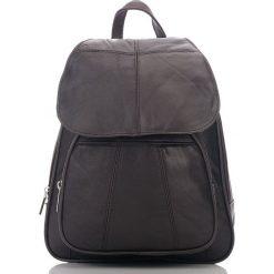 Brązowy Plecak damski skóra naturalna Abruzzo. Czarne plecaki damskie marki Abruzzo, ze skóry. Za 139,00 zł.