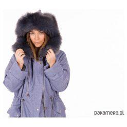 Jeansowa czapka zimowa. Niebieskie czapki zimowe damskie Pakamera, na zimę, z jeansu. Za 180,00 zł.