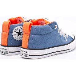 Converse - Trampki dziecięce. Szare buty sportowe chłopięce Converse, z gumy. W wyprzedaży za 139,90 zł.