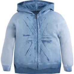 Bluza zapinana na zamek z kapturem 8-16 lat. Niebieskie bluzy dziewczęce rozpinane marki bonprix, z wełny, z długim rękawem, długie. Za 205,76 zł.
