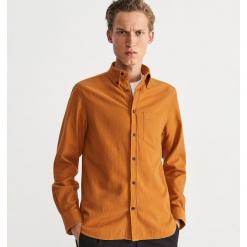 Koszula regular fit - Beżowy. Brązowe koszule męskie na spinki Reserved, m. Za 119,99 zł.