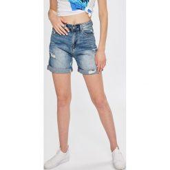 Answear - Szorty Boho Bandit. Szare szorty jeansowe damskie marki ANSWEAR, boho, z podwyższonym stanem. W wyprzedaży za 79,90 zł.