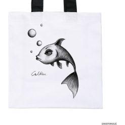 Ryba - torba premium (kolory). Białe shopper bag damskie Pakamera, z materiału. Za 79,00 zł.