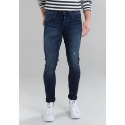 Spodnie męskie: Only & Sons ONSWARP CAMP Jeans Skinny Fit dark blue denim