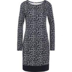MICHAEL Michael Kors LEOPARD Sukienka z dżerseju black. Czarne sukienki z falbanami marki MICHAEL Michael Kors, xs, z dżerseju. W wyprzedaży za 616,85 zł.