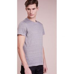 T-shirty męskie: 120% Lino UOMO GIROCOL Tshirt basic medium grey