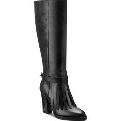 Kozaki GINO ROSSI - Matera DKH123-T05-E1QZ-9999-F 99/99. Czarne buty zimowe damskie marki Gino Rossi, z materiału, na obcasie. W wyprzedaży za 449,00 zł.