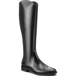 Oficerki GINO ROSSI - Nevia DKF443-G12-3V00-9900-F 99. Czarne buty zimowe damskie marki Gino Rossi, z materiału, przed kolano, na wysokim obcasie. W wyprzedaży za 399,00 zł.