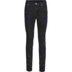 Dżinsy SKINNY bonprix ciemnoszary denim. Niebieskie jeansy damskie skinny marki House, z jeansu. Za 59,99 zł.