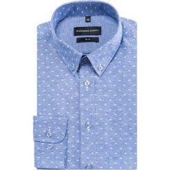 Koszula SIMONE KDWS000369. Czarne koszule męskie na spinki marki TOM TAILOR DENIM, l, z bawełny, button down, z długim rękawem. Za 169,00 zł.