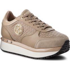 Sneakersy GUESS - FLTIF3 ELE12 BEIGE. Brązowe sneakersy damskie Guess, ze skóry ekologicznej. Za 499,00 zł.