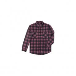 Koszula męska klasyczna, Z KOŁNIERZEM, z kieszonkami casual flanelowa. Szare koszule męskie marki TXM, m, z klasycznym kołnierzykiem. Za 29,99 zł.