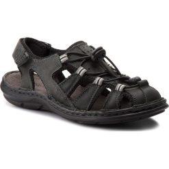 Sandały męskie skórzane: Sandały LASOCKI FOR MEN – MI07-A426-A282-27 Czarny