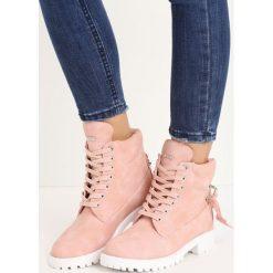 Buty zimowe damskie: Różowe Traperki Be Brave