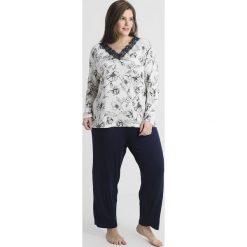 Piżamy damskie: Evans LONG SLEEVE PANT SET Piżama black/white